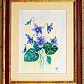 Aquarelle 18x24-24x30cm (Les violettes) [1]