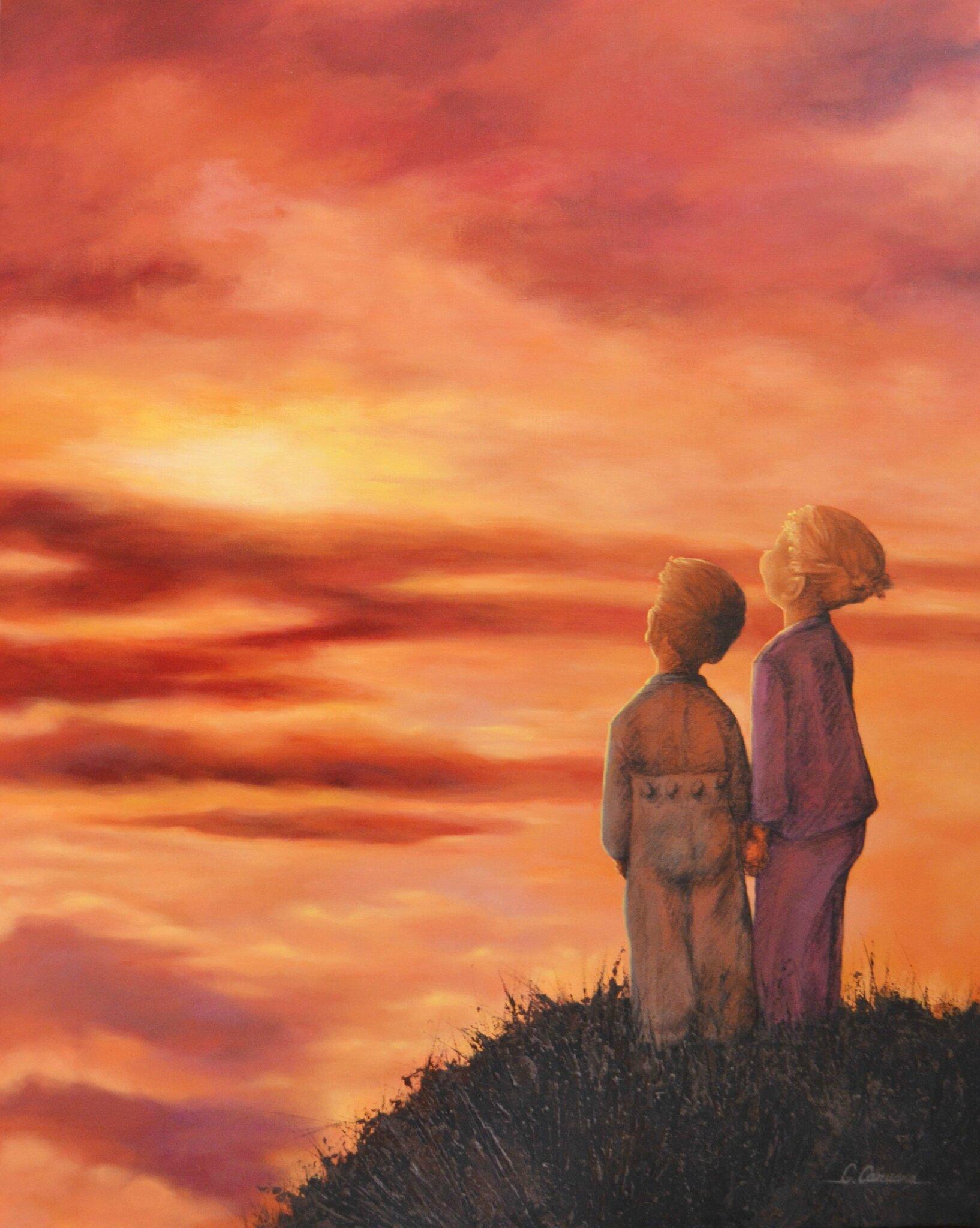 C'est ensemble que l'on rêve - Acrylique sur toile - 81x65cm - Disponible