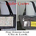 Nouveau sac fourre-tout clic & look