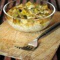 Gratin de quinoa muscadé aux poireaux, sans blé, sans lait