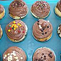 Cupcakes styles muffins topping au philadelphia milka