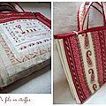 Un sac à ouvrages façon