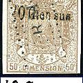 Surcharges des receveurs sur le type manteau impérial en 1871 (part. 1)
