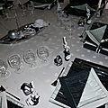 Table de noël blanc, noir et argent