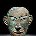 Copper funerary mask, china, liao dynasty, 10th–11th century