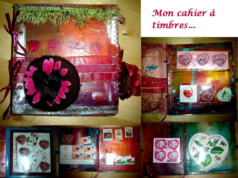 cahier a timbres
