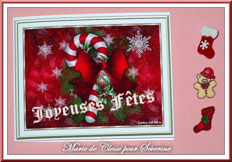 Echange boutons Noël Chez Manou60 Marie de Clessé pour Séverine 1