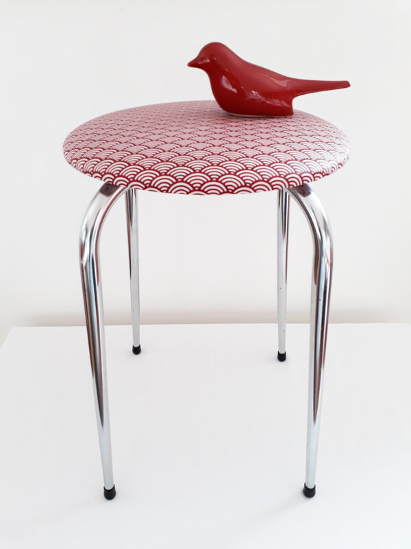 tabouret60vaguerouge