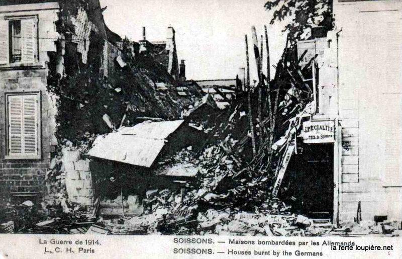soissons maisons bombardées